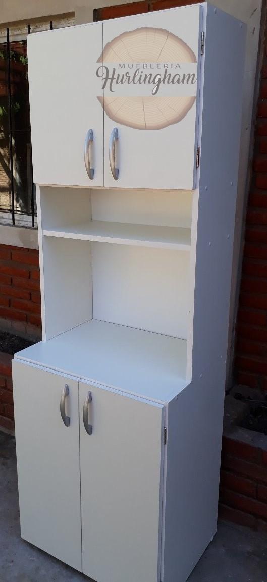Mueble De Cocina Porta Microondas Y Alacena Melamina 18 Mm – Muebleria